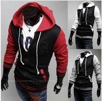 Free shipping Men's baseball jersey letter G symbol of high quality recreational sports Hooded Sweatshirtsjacket  size M-XXL