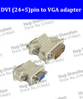 NEW DVI to VGA cable ,DVI ( 24+5 )pin to VGA adapter connector/ video converter ,support 8800GT FX550 8800GTX Free Shipping