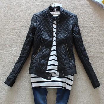 Free shipping 2014 hot sell brand fashion women Slim-fitting Motorcycle leather jacket winter Coat women warm outwear coat