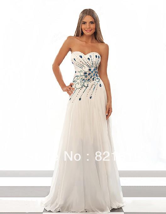 White peacock dress - photo#9