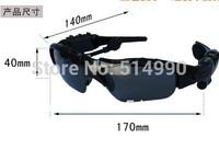 Black Quality Stereo Bluetooth Headset Telephone Polarized Driving Sunglasses/mp3 Riding Eyes Glasses Genuine Free Shipping