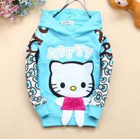 Hot Selling Children T- shirt !4pcs/lot 4 Color Cute hellokitty cats girls coat t shirts Ultra stylish long sleeve t-shirt