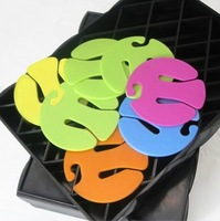 Free Shipping Promotion 5PCS/PACK colorful Plastic storage socks clips hanger