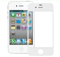 Free Shipping For iPhone 4 4G White Front Glass Outer Lens Cover Screen Refurbish ,front screen glass lens for iphone 4S 4G