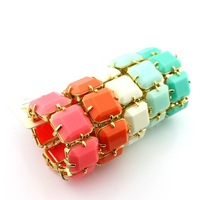 Min. order is $15 (mix order) women's Fashion  big crystal bracelet