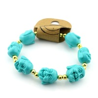 Min. order is $15 (mix order) female freedow buddha head bracelet