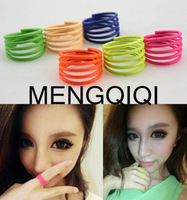 Fashion big summer cutecute neon color candy color spiral ring j005