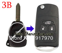 Free Shipping  Remodeling Flip key  Shell For Chrysler 3 Button Key Fob