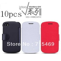 10pcs/lot  for  BlackBerry Q10 case Original Nillkin  V-series Leather Case