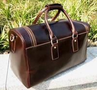 Top Quality Unisex Genuine Leather Shoulder Bag travel bag DUFFLE Genuine Leathen  Free Shipping