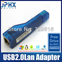 USB2.0 to RJ45 100Mbps Ethernet lan Network Windows/Android/MAC system Ultrathin laptops Free Drive of MAC USB Lan Adapter card