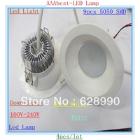 4x 9W 9-CREE 5050SMD LEDS New Downlight Led Light 810LM High Power Led Bulbs Energy Saving Led Lamp 85V-265V