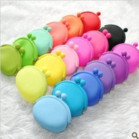 Girl Lady Silicone Coin Purses Pouch Wallet Card Rubber Bag Key Holder Mini Case FRIGHT COLOR