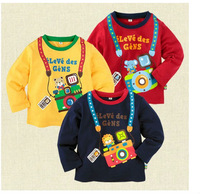 wholesale girl boy children tee shirt fit 1-5yrs spring autumn long sleeve t shirt clothing 15pcs/lot 5size 3color free shipping