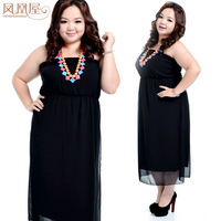 free shipping black color XL,XXL,XXXL SIZE, off shoulder maxi long chiffon evening dress woman plus size for party