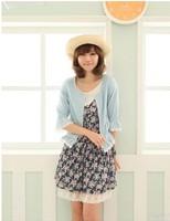 2013  Women's New Free Shipping  Lovely Design Short Coat Deep Blue/Light Blue MM11072601