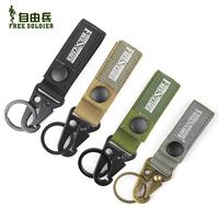 4PCS/Lot  Outdoor quick release keychain hiking oscillating shackle cordura fabric belt hook Buckle Muddy/Black Size: 2.5*12CM