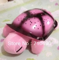 Free Shipping Tortoise Shadow Lamp With  Sleep Starry Sky Lamp Creative Baby   Dolls Stuffed Plush Toys 2 pcs/lots
