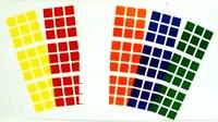 5 set 3x3x3 Magic cube PVC Replace RUBIK Stickers