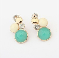 Min.order is $15(mix order)newest jewelry/ cat's eye stone fashion boutique Earrings