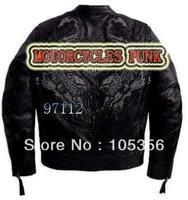 special !! motorcycles mortorbiker Men's genuine Leather Jacket 97112,Sports jacket,motorcycles jacket S-XXL