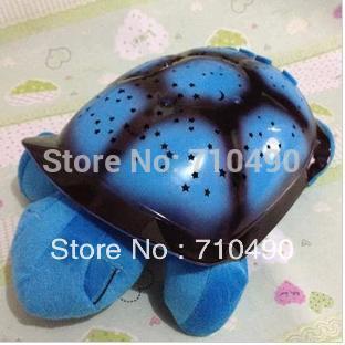 Free Shipping 2015 Tortoise Shadow Lamp With  Sleep Starry Sky Lamp Creative Baby   Dolls Stuffed Plush Toys 1 pcs/lots