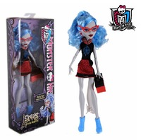 Monster High dolls Original,Ghoulia Yelps,fashion Genuine monster high dolls, City of Frights Toys gifts for girls Free shipping