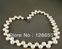 Summer Hot natural freshwater pearl necklace 8-8.5mm Free shipping