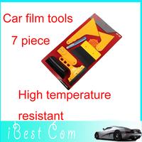 Set of 7pcs Deluxe Car Auto Van Vehicle Window Vinyl Film wrap Application installation Scrape Tools Scraper Kit Free s kids toy