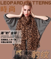 Fashion Magazine Style Leopard Print Scarf women's Scarves Best Gift 0843