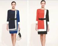 vintage sophisticated  peplum skirt Red party dress 2013 for women long sleeve dresses