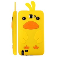 Cute Animal 3D Duck Silicon Back Cover Soft Protective Case for Samsung Galaxy Note i9220 n7000