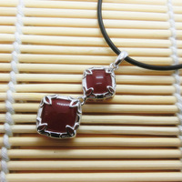 Red Agate Pendant 100% Guaranteed Solid 925 Sterling Silver Agate Pendant Necklace YH2022