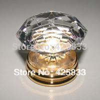 K9 Crystal Copper Glass Furniture Gold Basic Kitchen Cabinets Handles Door Knobs and Pulls Dressers Knob Drawer Pulls