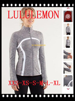 61 styles Free shipping 2014 lululemon hoodies scuba yoga jacket women fashion coat outwear clothes gray2 4 6 8 10 12