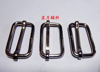 Luggage accessories cord lock ribbon buckle plastic nylon backpack fastener school bag strap buckle metal three lines, buckle