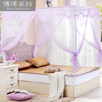 Home textiles ungrounded square top mosquito net zipper door three