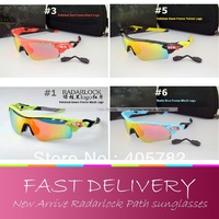 Free shipping,2013 Brand New Anti glare Cycling Sports polarized Sunglasses Radarlock Path for Men bike bicycle goggles 5 Lens