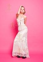 Custom Daisy Beaded White Bridal Corset Wedding Dress 2013
