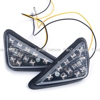 Free shipping new universal Euro Triangle Flush Mount LED Turn Signal Smoke for Honda CBR 600 929 954 RR F4i