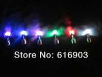 Free shipping 100pcs/lot(50PAIRS) 20*7mm 8 color led stud earring led earring flash stud earring for Christmas