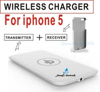 5V Qi Wireless charger Receiver Wireless Charging adapter For iphone 5+Free Shipping