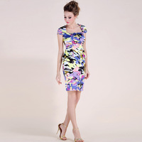 Summer sweet ol square collar slim waist ruffle faux silk ink fancy silks and satins slim hip women's one-piece dress