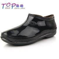 Male winter low ingot plus cotton rain boots cotton water shoes thermal rainboots men's