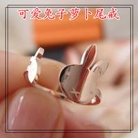 Fashion rabbit radish pinky ring rose gold titanium rose gold ring female gift