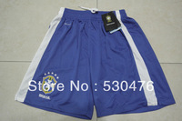 Brazil soccer shorts best Thai quality 2013/14 brazil home blue football shorts free shipping mix orders size: S/M/L/XL