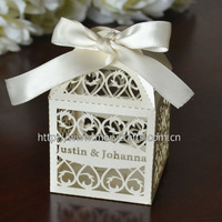 "100 pcs of laser cut ""filigree"" gift box excellent  wedding boxes"