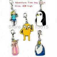 Adventure Time keychains finn and jack key chain 5pcs/lot  free shipling K0598