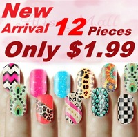 Free shipping-3D Design Tip Nail Art Sticker Decal Manicure Mix Color Self-adhesive Flower Decal Decoration set