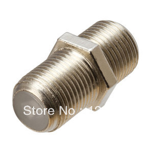 Brass Materials 50 Pcs F Type Coupler Adapter Connector Female F/F Jack RG6 Coaxial Cable connector terminals(China (Mainland))